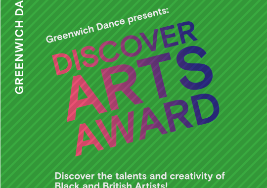 Discover Arts Award text on green background
