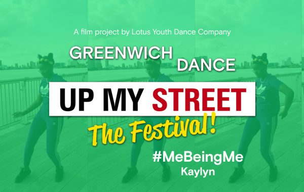 Up My Street The Festival text with Kaylyn faintly in background