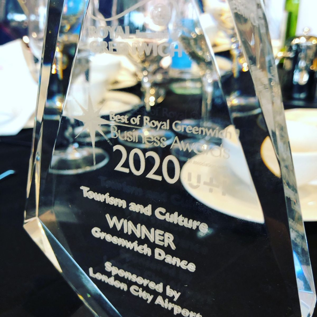 Close up of award