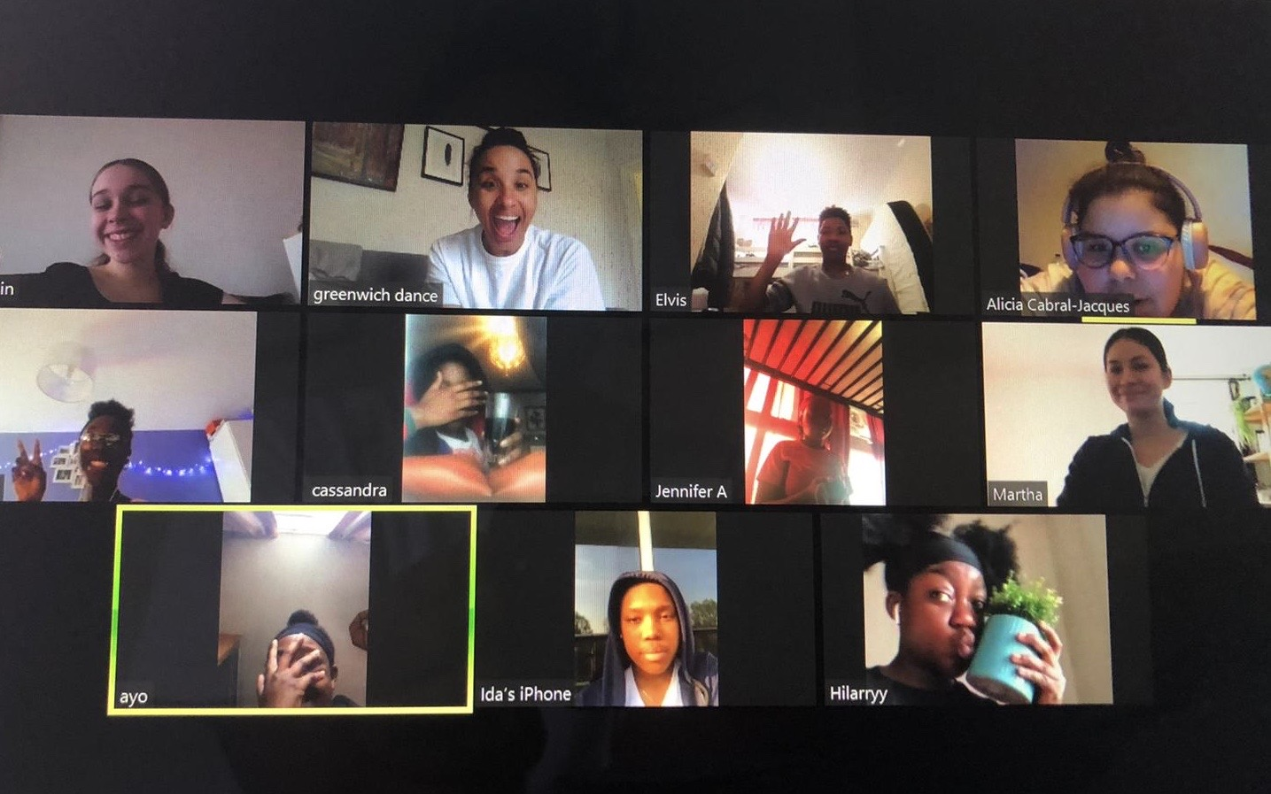 Lots of faces on a Zoom call