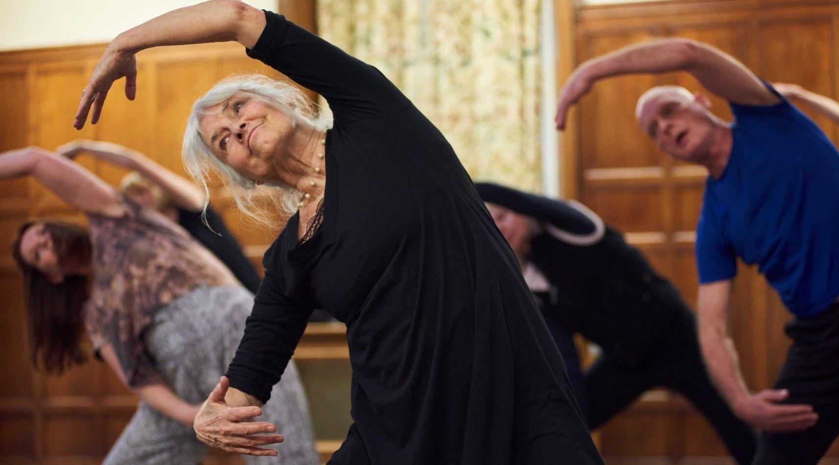 Older dancers stretching