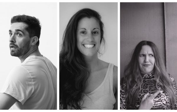 Black and white photos of Roswitha Chesher, Mathieu Geffre, Zoie Golding, Sarah Blanc and Temujin Gill